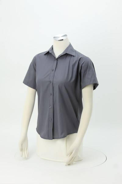 Broadcloth Short Sleeve Dress Shirt - Ladies' 360 View