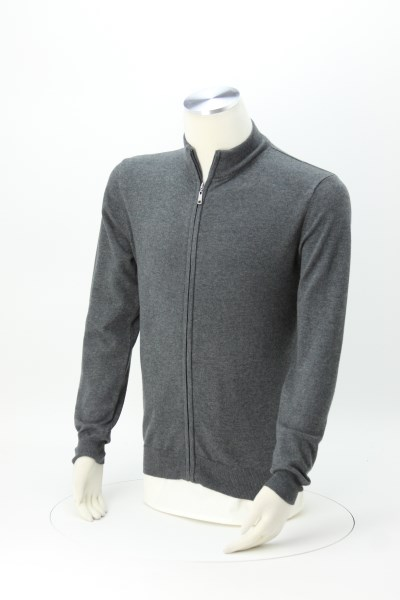 Cotton Blend Full-Zip Sweater - Men's 360 View