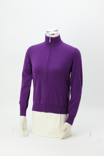 Cotton Blend Full-Zip Sweater - Ladies' 360 View