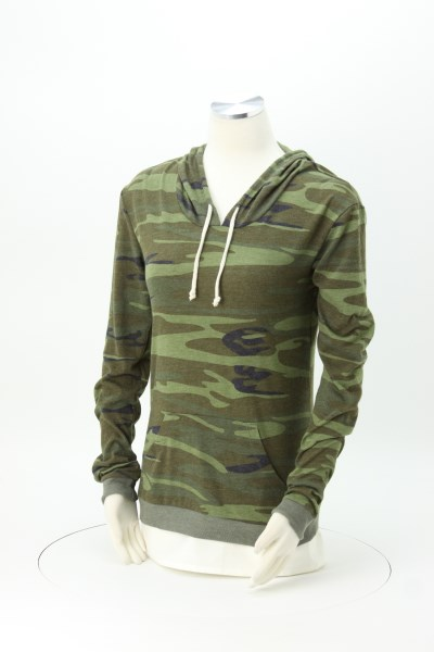 Alternative Classic Hooded T-Shirt - Ladies' - Embroidered - Camo 360 View
