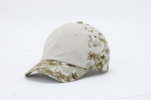 Digital Camo Ripstop Colorblock Cap 360 View