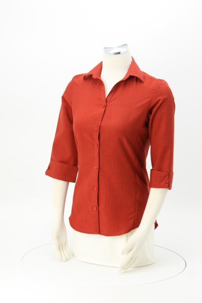 Batiste Polyester 3/4 Sleeve Dress Shirt - Ladies' 360 View
