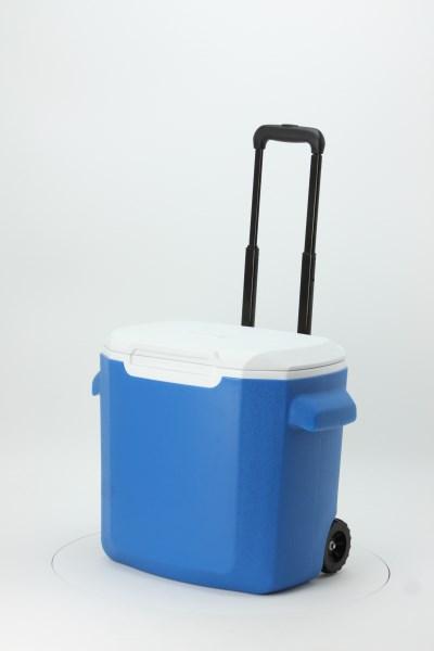 Coleman 28-Quart Wheeled Cooler 360 View