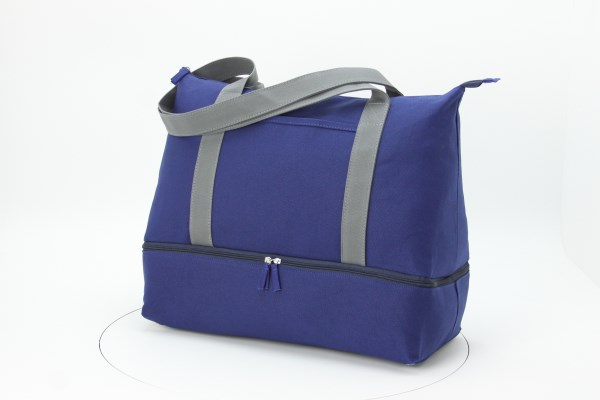 Cotton Weekender Tote - Embroidered 360 View