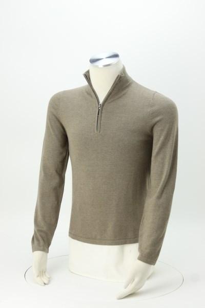 Cotton Blend 1/4-Zip Sweater 360 View