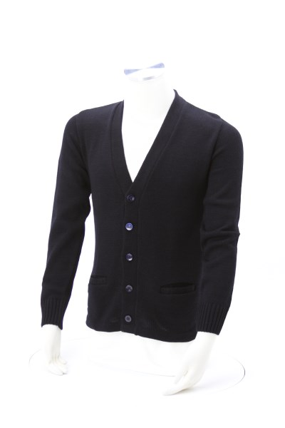 Heavyweight Acrylic V-Neck Button Cardigan 360 View