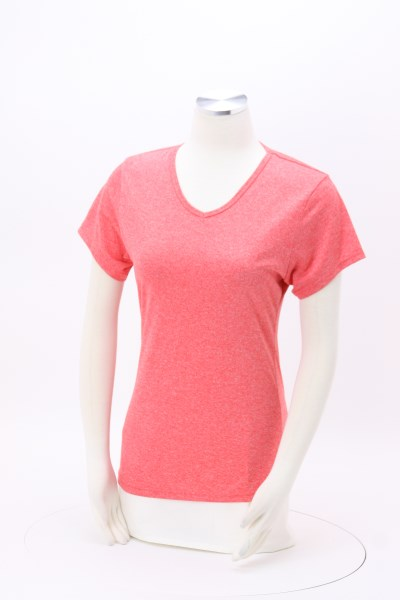 Snag Resistant Heather Performance T-Shirt - Ladies'- Screen 360 View