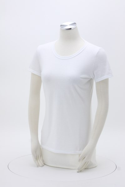 Jerzees Dri-Power 50/50 T-Shirt - Ladies' - White - Embroidered 360 View