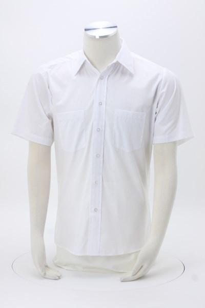 Two-Pocket Short Sleeve Broadcloth Shirt 360 View