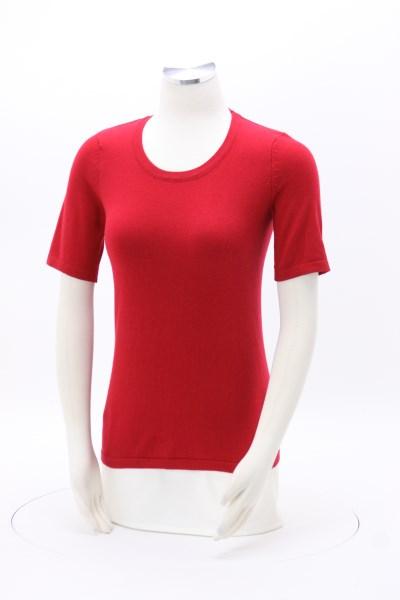 Scoop Neck Short Sleeve Sweater 360 View