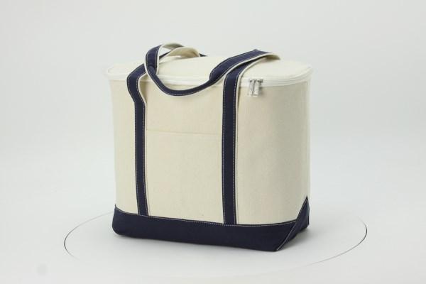 """Large Cotton Canvas Kooler Bag - 13"""" x 17"""" 360 View"""