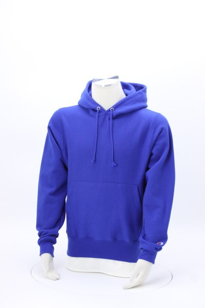 Champion Reverse Weave Hooded Sweatshirt - Embroidered 360 View