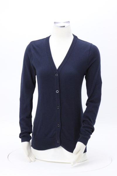 Jersey Knit Button Front Cotton Cardigan 360 View
