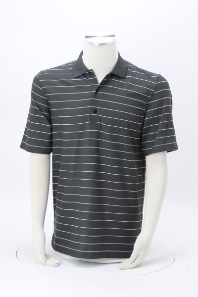 Greg Norman Play Dry Performance Striped Mesh Polo 360 View