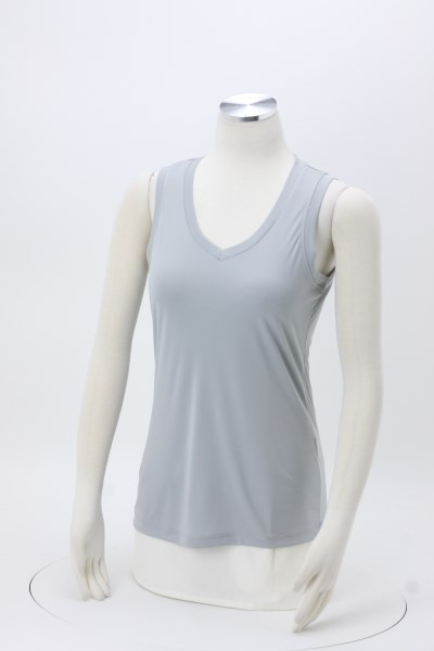 Sleeveless Contender V-Neck Tank - Ladies' - Embroidered 360 View