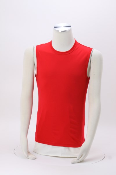 Sleeveless Contender Tee - Men's - Embroidered 360 View