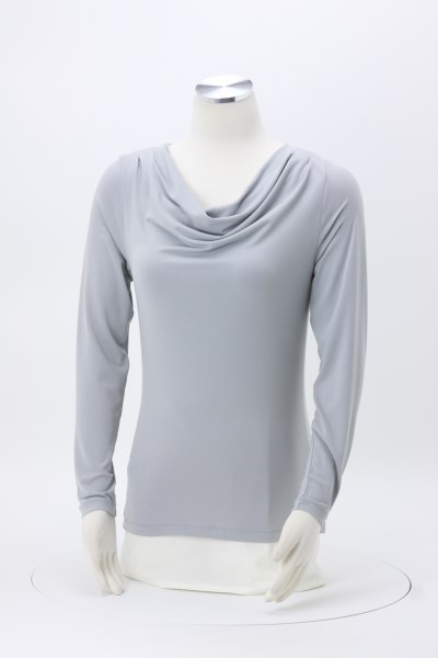 Cowl Neck Knit Top 360 View