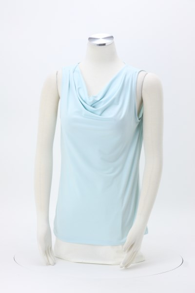 Cowl Neck Sleeveless Knit Top 360 View