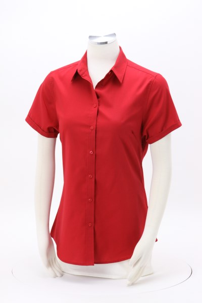 Performance Twill Short Sleeve Shirt - Ladies' 360 View