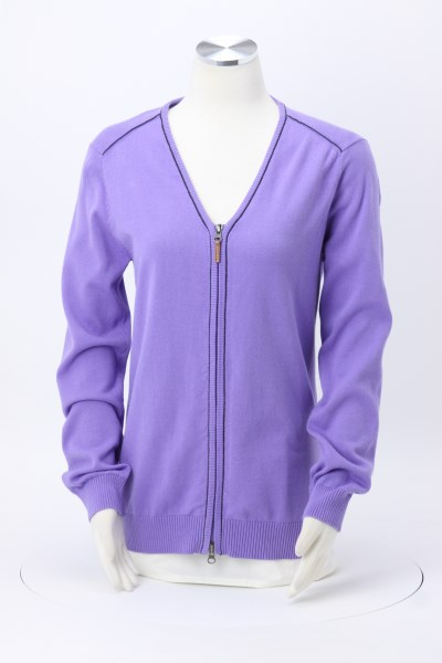 Manchester Full-Zip Cardigan Sweater - Ladies' 360 View