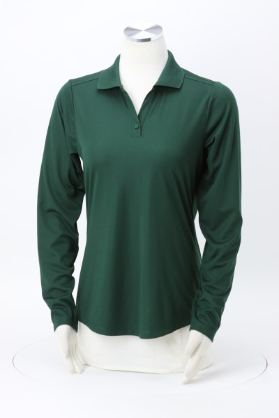 Dade Textured Performance LS Polo - Ladies' 360 View
