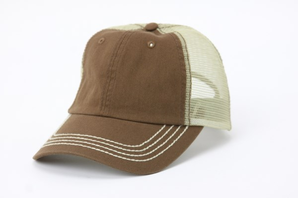 Mega Washed Cotton Twill Trucker Cap 360 View