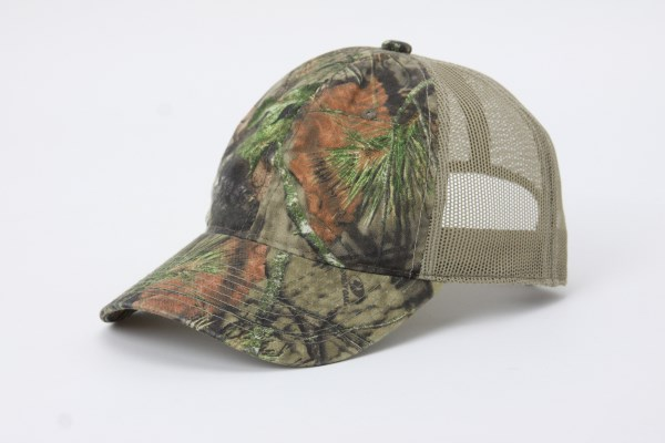 Mesh Back Unstructured Camo Cap 360 View