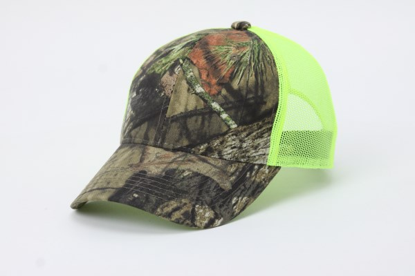 Camo Mesh Back Structured Cap 360 View