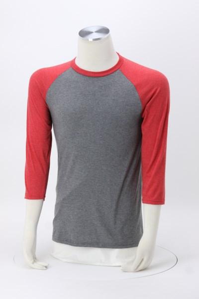 Ideal 3/4 Sleeve Raglan T-Shirt - Men's 360 View