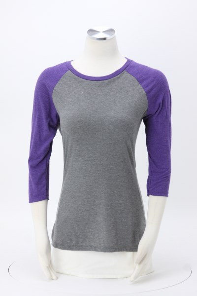 Ideal 3/4 Sleeve Raglan T-Shirt - Ladies' 360 View