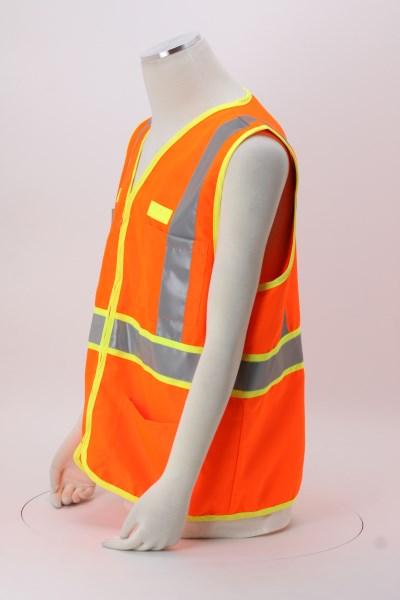 Dual-Color Reflective Safety Vest 360 View
