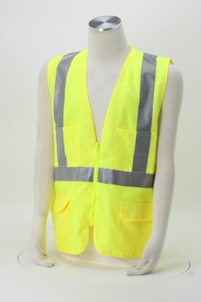 Mesh Back Reflective Safety Vest 360 View