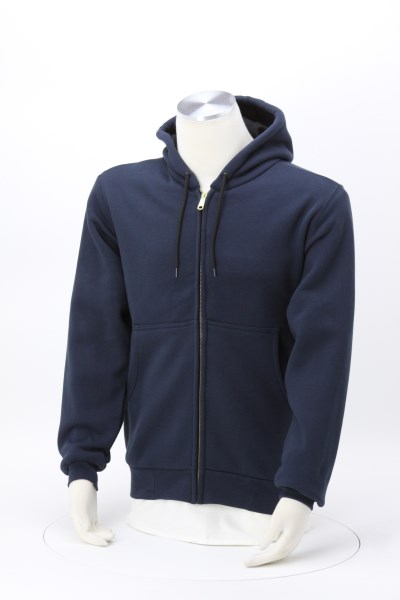 Heavyweight Thermal Lined Full-Zip Hooded Sweatshirt 360 View