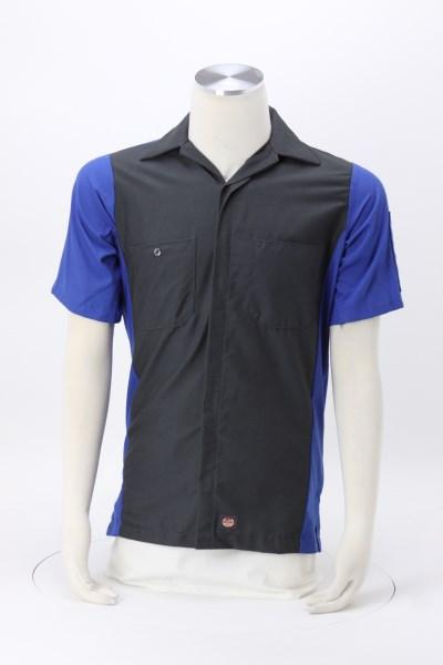 Red Kap Mechanic Crew Short Sleeve Colorblock Shirt 360 View