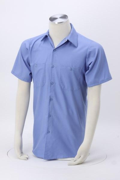Red Kap Technician Short Sleeve Striped Work Shirt 360 View