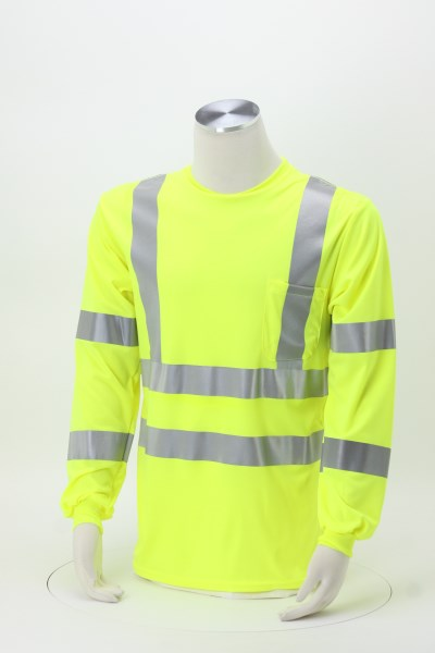 Snag-Resistant Reflective Long Sleeve T-Shirt 360 View