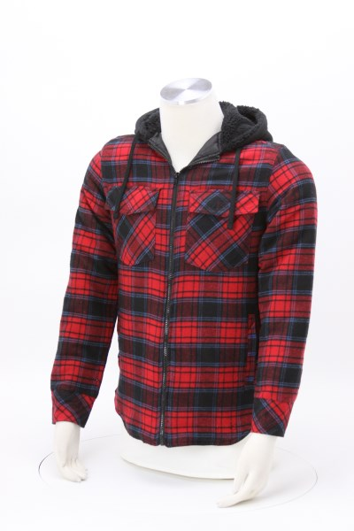 Burnside Quilted Flannel Full-Zip Hooded Jacket 360 View