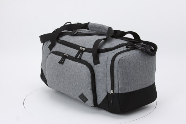 """Graphite 21"""" Weekender Duffel - Embroidered 360 View"""