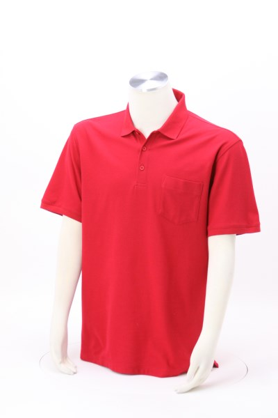 Lightweight Classic Pique Pocket Polo - Men's 360 View