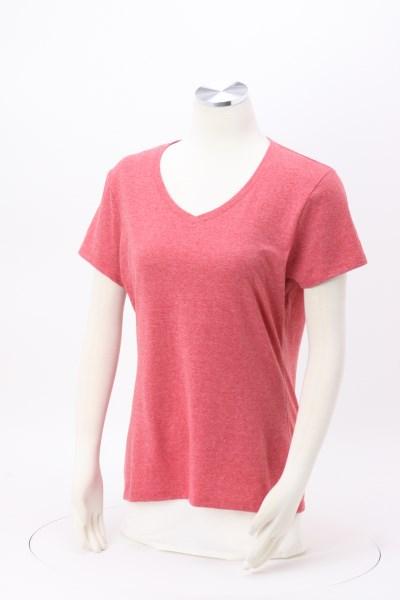 Hanes X Temp Tri Blend V Neck T Shirt Ladies
