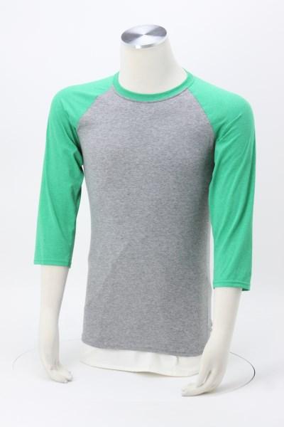 Jerzees Dri-Power Tri-Blend Baseball T-Shirt - Embroidered 360 View