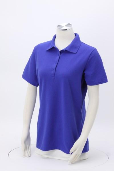 Hanes X-Temp Pique Sport Shirt - Ladies' - Embroidered 360 View