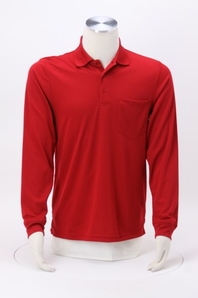 Origin LS Performance Pique Pocket Polo - Men's 360 View