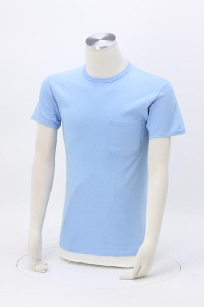 Adult 6 oz. Cotton Pocket T-Shirt - Screen 360 View
