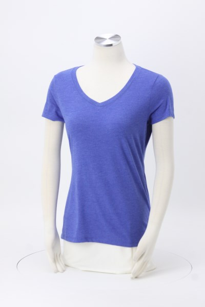 Optimal Tri-Blend V-Neck T-Shirt - Ladies' - Colors - Screen 360 View