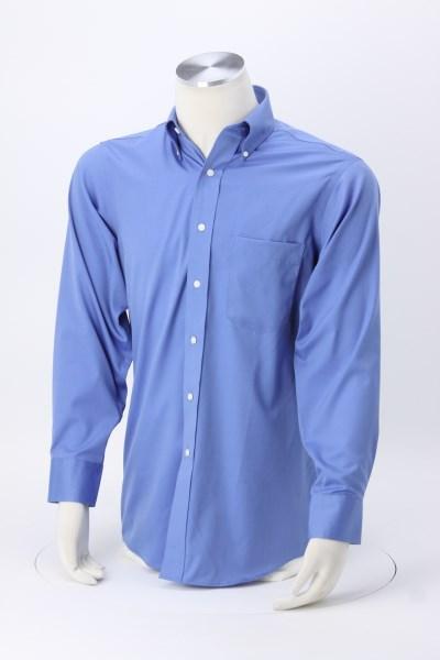 Van Heusen Wrinkle-Free Pinpoint Dress Shirt - Men's 360 View