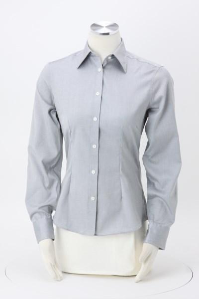 Van Heusen Wrinkle-Free Pinpoint Dress Shirt - Ladies' 360 View