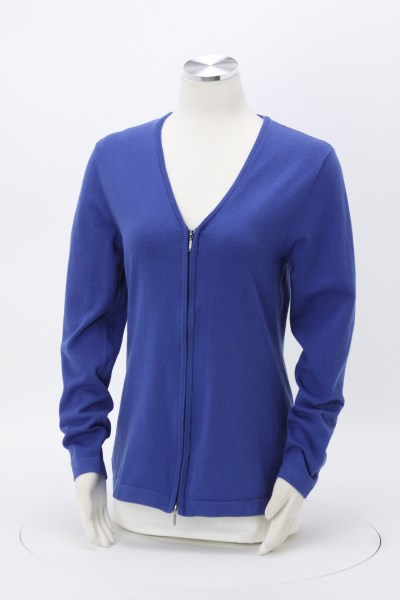 Full-Zip V-Neck Cardigan - Ladies' 360 View