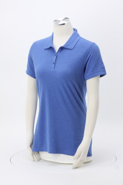 Easy Care Wrinkle Resist Cotton Pique Polo - Ladies' 360 View