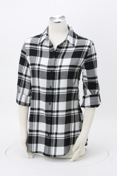 Plaid Flannel Shirt - Ladies' 360 View